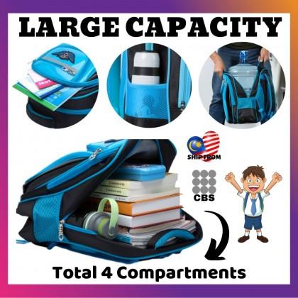 JOM KELLY 6 Wheel High Platform Children School Students Waterproof Trolley School Bag (Wing Logo)