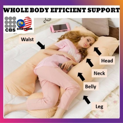 JOM KELLY Full Body U Shape Pregnancy Pillow (Cartoon Printed) 150*80cm/ 3kg