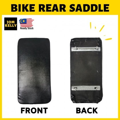 JOM KELLY Bicycle Rear Seat Cushion Seat Saddle Bike Backseat Black Screw Type/ Buckle Type